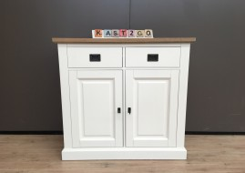 Dressoir Finn wit/EIKEN (95cm breed)