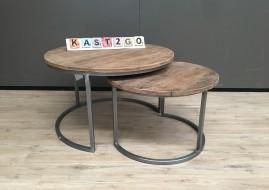 set van ronde salontafels JAMIE (metaal) gratis bezorging
