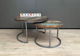set van ronde salontafels JIMMI (gekleurd) gratis bezorging