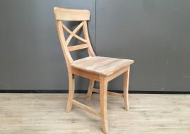 Teak houten stoel met kruis