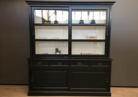 Buffetkast Degen zwart/wit (200cm breed)