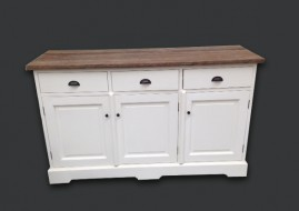 Dressoir wit/TEAK (150cm breed)
