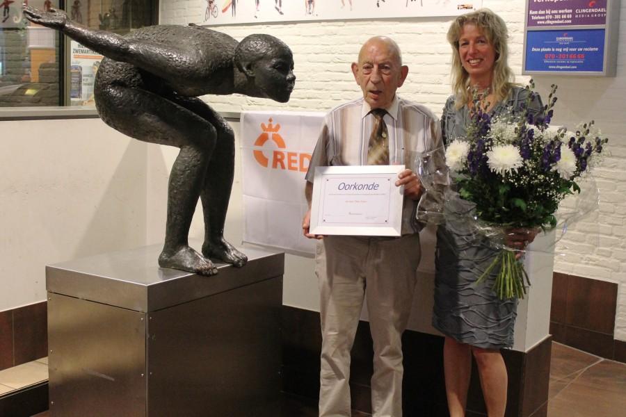 50-Jarig jubileum en oorkonde voor Theo Evers